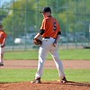 Paul DiCicco - The News-Herald<br />  Tiger pitcher, Erik Wilson, looks back the runner at first base.