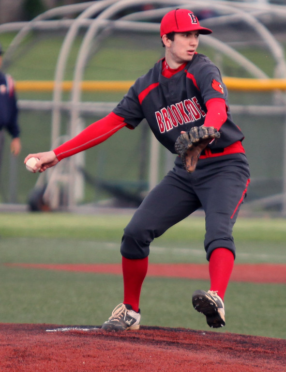 . Randy Meyers - The Morning Journal<br> Connor Baughman of Brookside delivers a pitch against Padua on May 15.