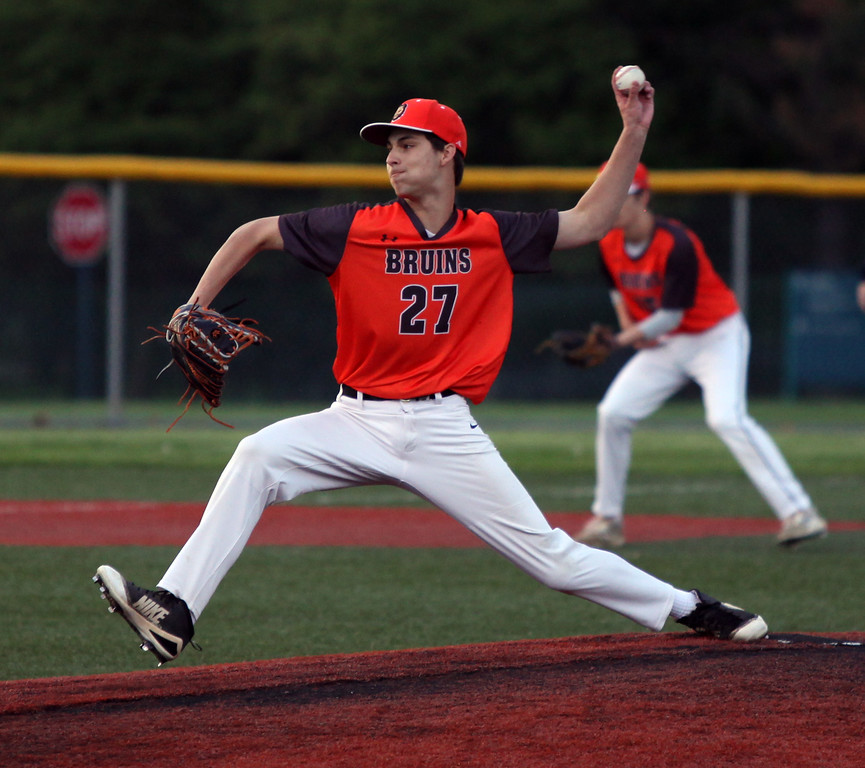 . Randy Meyers - The Morning Journal<br> Mark Luszczynski of Padua delivers a pitch against Brookside during the second inning on May 15.