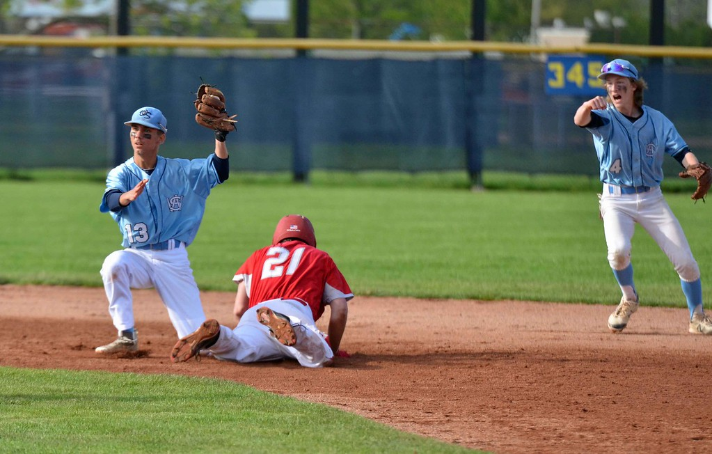 . Paul DiCicco - The News-Herald Photos from the Willoughby South vs. Mentor baseball game on May 15, 2018.