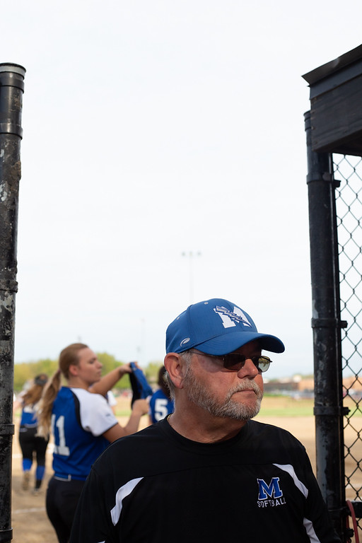 . Michael Johnson - The News-Herald Madison head coach Art Rose in the dugout