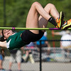 Michael Johnson - The News-Herald<br /> Mayfield's Marion Catalano clears the pole in the girls high jump event during day one of the D1 District Track Meet at Mayfield High School on May 17, 2017.