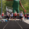 Michael Johnson - The News-Herald<br /> Deymond Hale of Lake Catholic performs in the Long jump event during day one of the D1 District Track Meet at Mayfield High School on May 17, 2017.