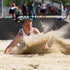 Michael Johnson - The News-Herald<br /> Madison's Zach Guyer performs in the long jump event during day one of the D1 District Track Meet at Mayfield High School on May 17, 2017.