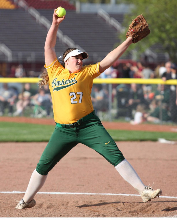 . Randy Meyers - The Morning Journal Madison O\' Berg of Amherst delivers  a pitch against Elyria in the fourth inning against Elyria on Thursday