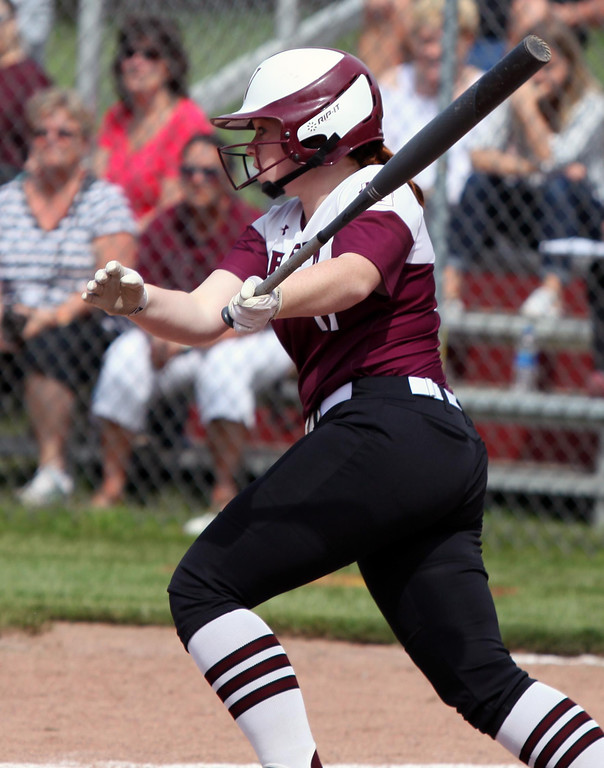 . Randy Meyers - The Morning Journal Amber Wetherbee of Wellington  grounds out to the infield against Independence on Thursday