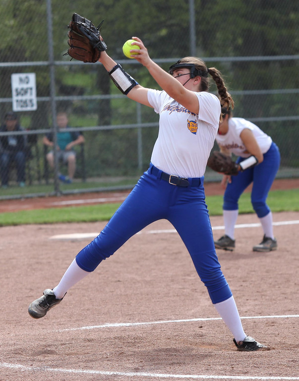 . Randy Meyers - The Morning Journal Kim Rega of Independence delivers a  pitch against Wellington on Thursday