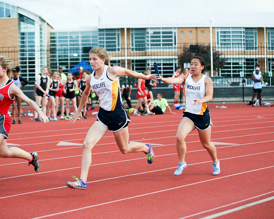. Coleen Moskowitz - The News-Herald The Wickliffe  4x100 relay.