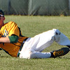 Jon Behm - The Morning Journal<br /> Amherst center fielder Evan Shawver makes a sliding catch during the bottom of the third inning against Avon during the Division I Lorain District final on May 19 at The Pipe Yard.