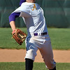 Jon Behm - The Morning Journal<br /> Avon junior Logan Doenges throws a pitch during the top of the first inning against Amherst during the Division I Lorain District final on May 19 at The Pipe Yard.