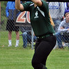 Jon Behm - The Morning Journal<br /> Elyria Catholic junior Meghan Allegretto catches a fly ball during the top of the fifth inning against Massillon Tuslaw in a Division III Massillon Region semifinal on May 24.