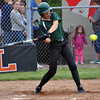 Jon Behm - The Morning Journal<br /> Elyria Catholic junior Maddy Knoth takes a swing during the bottom of the second inning against Massillon Tuslaw in a Division III Massillon Region semifinal on May 24.