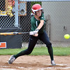 Jon Behm - The Morning Journal<br /> Elyria Catholic senior Sam Filiaggi takes a swing during the bottom of the first inning against Massillon Tuslaw in a Division III Massillon Region semifinal on May 24.