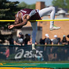 Jen Forbus - The Morning Journal<br> Rocky River's Daishaun Hill arches over the crossbar in the boys high jump on May 25.