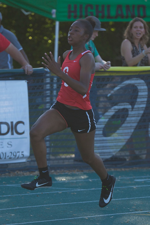 . Jen Forbus - The Morning Journal<br> Elyria\'s 4x100 relay finished second at the Amherst regional track meet on May 25.