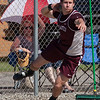 Jen Forbus - The Morning Journal<br> Michael Shoaf of Rocky River claimed the shot put title at the Amherst regional meet on May 25.