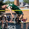 Jen Forbus - The Morning Journal<br> Westlake's Dominic Bauer clears the crossbar in the boys high jump on May 25.