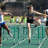 Jen Forbus - The Morning Journal<br> Avon's Kamryn Sharer jumps her final hurdle in the girls 100 hurdles on May 25.