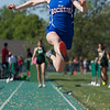 Jen Forbus - The Morning Journal<br> Bay's Chloe Rickson takes a leap in the girls long jump competition on May 25.