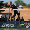 Jen Forbus - The Morning Journal<br> Karrengton Wade of Lorain clears the bar in the boys high jump on May 25.