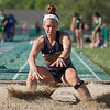 Jen Forbus - The Morning Journal<br> North Ridgeville's Isabella Geraci won the girls long jump at the Amherst regional track meet on May 25.