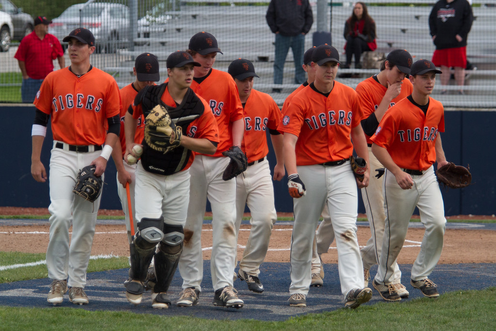 . Michael Johnson - The News-Herald Chagrin Falls takes the field during the Hudson Regional Semifinal against Canfield on May 26.  Canfield defeated Chagrin Falls 2-0.