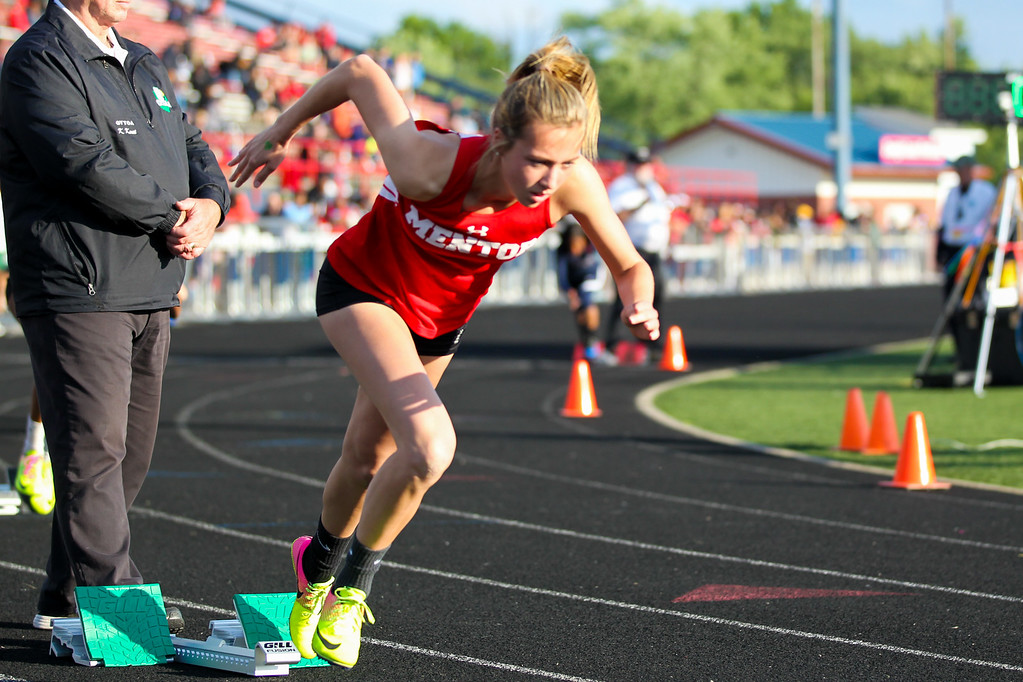 . 2017 - Track and Field - Austintown Regionals.  Mentor\'s Emma Lane won the 400 Meter Dash in a time of 54.92 over a second faster than the next runner.
