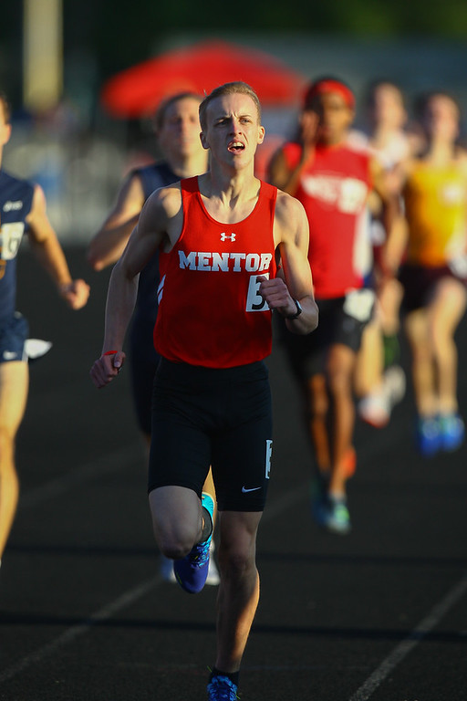 . 2017 - Track and Field - Austintown Regionals.  Mentor\'s Matthew Bull finished 3rd in the 800 Meter Run in a time of 1:55.64.