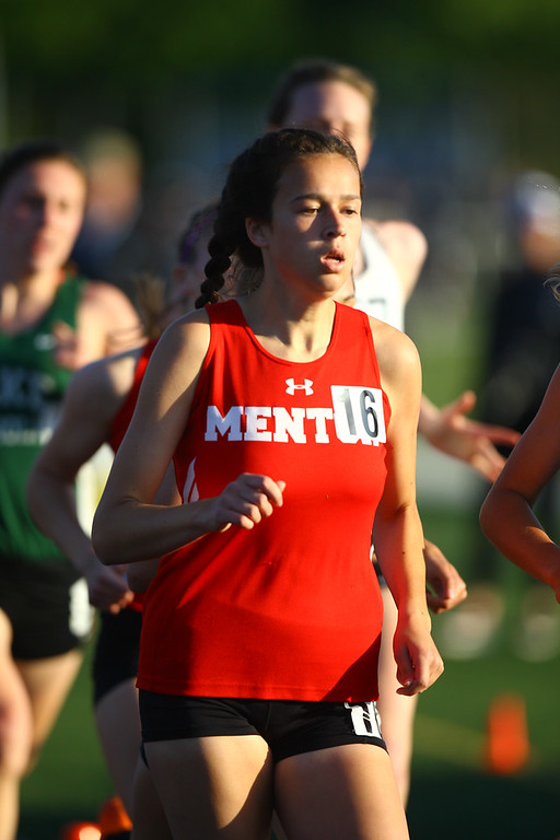 . 2017 - Track and Field - Austintown Regionals.  Mentor\'s Sarah Lane finished the 800 Meter Run in 6th place with a time of 2:19.21.