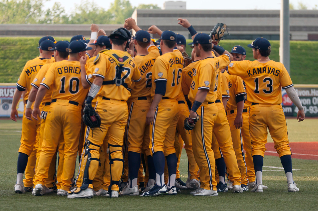 . Jen Forbus - The Morning Journal<br> The Kent State Golden Flashes prepare for the MAC Championship game against Miami on May 26.