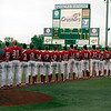 Jen Forbus - The Morning Journal<br> The Miami Red Hawks stand for the National Anthem prior to their championship game versus the Kent State Golden Flashes at Sprenger Stadium on May 26.