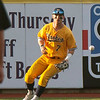 Jen Forbus - The Morning Journal<br> Kent State left fielder Reilly Hawkins (Chardon) fields the ball in the Golden Flashes' MAC championship game against the Miami Red Hawks on May 26.