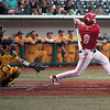 Jen Forbus - The Morning Journal<br> Miami's Landon Stephens watches his hit in the Red Hawks' game against the Kent State Golden Flashes on May 26.