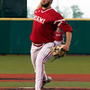 Jen Forbus - The Morning Journal<br> Miami starter Spencer Mraz delivers against Kent State in the MAC Championship game at Sprenger Stadium on May 26.