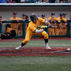 Jen Forbus - The Morning Journal<br> Kent State's Nick Kanavas lays down a bunt against Miami during the MAC Championship game at Sprenger Stadium on May 26.
