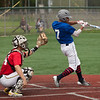 Jen Forbus - The Morning Journal<br /> Lorain's Michael Clark gets ahold of pitch for the Blue team during the Lorain County Senior All-Star Game at Oberlin College on May 26.