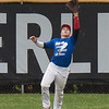 Jen Forbus - The Morning Journal<br /> Tristan Arno of Elyria secures a fly ball during the Lorain County Senior All-Star Game at Oberlin College on May 26.