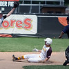 RANDY MEYERS THE MORNING JOURNAL   Nick Straubaugh of Waynedale slides into second safely as Elyria Catholic's Tony LoParo jumps for the catch.