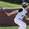 RANDY MEYERS THE MORNING JOURNAL  Ellyria Catholic's Sean Darmafall watches his fly ball in the first inning of a regional final against Apple Creek Waynedale on May 27.