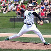 RANDY MEYERS THE MORNING JOURNAL    Elyria Catholic's Jack Laird delivers a pitch during a regional final.