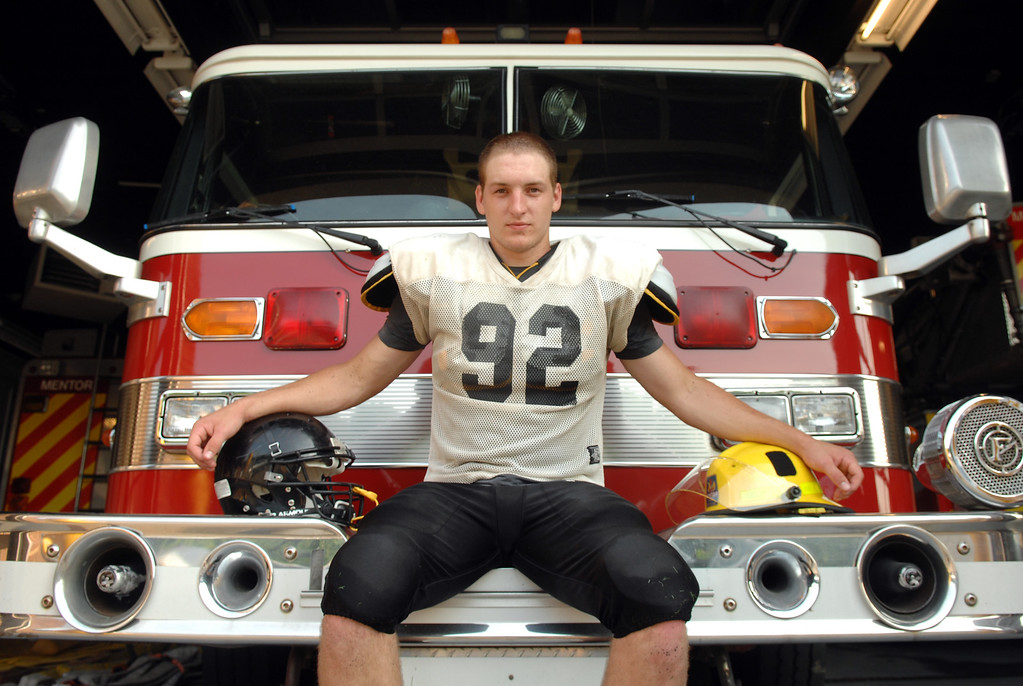 . News-Herald file Riverside\'s Joe Palmer will be playing his last game Saturday as he plans to join the fire academy after graduation.