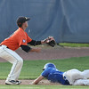 Michael Johnson - News-Herald<br /> Poland's Don Drummond (right) slides into third base to beat Chagrin Falls' Colin Kennedy during the Division 2 Hudson Regional Final on May 27, 2016.  Poland defeated Chagrin Falls 13-3.