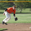 Michael Johnson - News-Herald<br /> Chagrin Falls shortstop Adam Bencke fields the ball during the Division II Hudson Regional Final on May 27.  Poland defeated Chagrin Falls 13-3.
