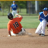 Michael Johnson - News-Herald<br /> Chagrin Falls' Tyler Zaluski (left) slides into second base to avoid the tag from Poland's Jared Burkert (right) during the Division 2 Hudson Regional Final on May 27, 2016.  Poland defeated Chagrin Falls 13-3.