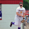 Jon Behm - The Morning Journal<br /> Maumee freshman Brianna Zattau guns to first in the bottom of the first inning against Keystone during the Bucyrus Region final on May 29.