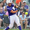 Jon Behm - The Morning Journal<br /> Keystone senior Destiny Weber takes a swing in the bottom of the second inning against Maumee during the Bucyrus Region final on May 29.