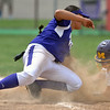 Jon Behm - The Morning Journal<br /> Keystone junior Sammie Stefan is late with the tag on Maumee junior Ariel Moore at third base in the top of the fourth inning during the Bucyrus Region final on May 29.