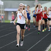 Michael Johnson - The News-Herald<br /> Halle McClintock leads the pack in the Girls 800 meter race during the Division 2 Track and Field Regional Finals at Austintown-Fitch High School on May 28, 2016.