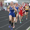 Michael Johnson - The News-Herald<br /> Gilmour's Katie Engle leads the Girls 1600 meter race during the Division 2 Track and Field Regional Finals at Austintown-Fitch High School on May 28, 2016.