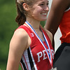 Michael Johnson - The News-Herald<br /> Perry's Leah King places second in the girls 100 meter hurdles at the Division 2 Track and Field Regional Finals at Austintown-Fitch High School on May 28, 2016.